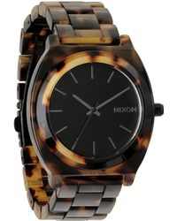 Nixon Time Teller Acetate Tortoise Watch - Lyst