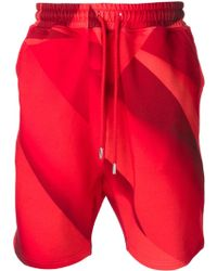 Christopher Kane Pages Print Track Shorts - Lyst