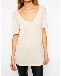 Asos Beige Forever T-Shirt - Lyst