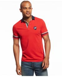 Tommy Hilfiger Channing Polo red - Lyst