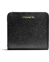 Coach Box Glitter Small Wallet - Lyst