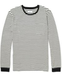Hentsch Man Striped Longsleeved Cotton-jersey Tshirt - Lyst