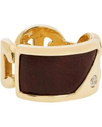 Hoorsenbuhs - Diamond Leatherinlay Gold Ring - Lyst