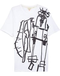 Rag & Bone White Graphic Tee  - Lyst