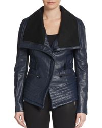 Badgley Mischka Kaya Leather Moto Jacket - Lyst