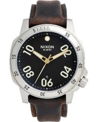 Nixon Ranger Leather Watch - Lyst