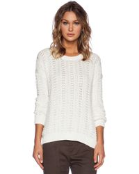 Vince Mercerized Texture Sweater - Lyst