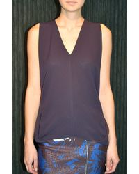 Yigal Azrouel Drapey Top Midnight - Lyst