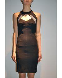 Yigal Azrouel Matte Jersey with Mesh Dress Black - Lyst