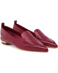 Nicholas Kirkwood Textured Calf Leather Loafers - Lyst