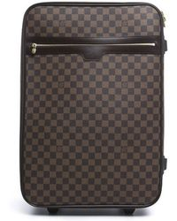 Louis Vuitton Pre-Owned Damier Ebene Pegase 55 Suitcase Bag - Lyst