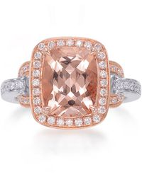 Frederic Sage - Roma 18k Rose Gold Faceted Morganite & Diamond Ring - Lyst