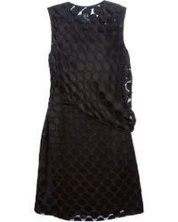 McQ by Alexander McQueen Circle Appliqué Draped Dress - Lyst
