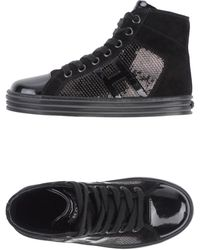 Hogan Rebel Black Hightops  Trainers - Lyst