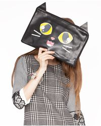 Pixie Market - Shadow Cat Clutch - Lyst