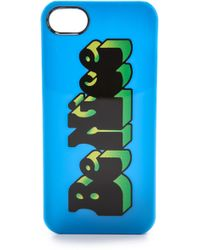 Marc By Marc Jacobs Fergus Logo Iphone 5 5s Case Electric Blue Lemonade - Lyst