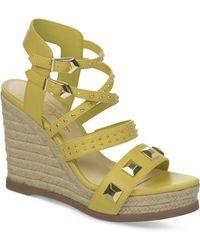 Fergie Averie Espadrille Platiform Wedge Sandals - Lyst