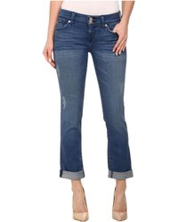 Hudson Ginny Straight Ankle Jeans W/ Cuff In Angeltown - Lyst