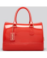 Furla Red Satchel Candy - Lyst