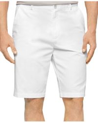 Calvin Klein Chino Walking Shorts white - Lyst