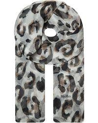 Max Mara Silk Leopard Print Scarf - Lyst