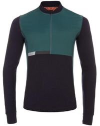 Paul Smith 531 Dark Purple Merino Wool Cycling Jersey With Windproof Panels green - Lyst