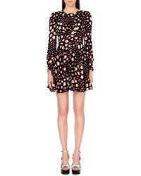 Saint Laurent Star-Print Crepe Dress - For Women - Lyst