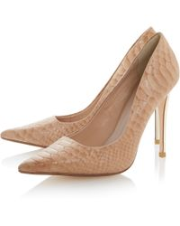 Dune Brook Leather Pointed Toe Stiletto Court Shoes - Lyst
