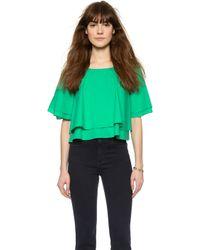 Rachel Comey Bowtie Crop Top - White - Lyst