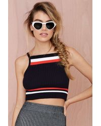 Nasty Gal Follow The Leader Ribbed Crop Top - Lyst