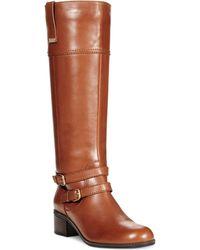 Bandolino Carlotta Wide Calf Riding Boots - A Macy'S Exclusive - Lyst