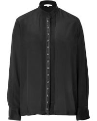 Vanessa Bruno Silk Blouse with Embellished Buttons - Lyst