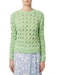 Topshop Unique - 'sixworth' Open Cable Knit Sweater - Lyst