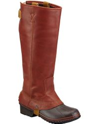 Sorel Slimpack Riding Leather Boots - Lyst