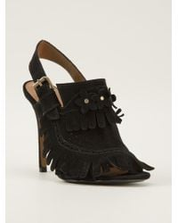 Agnona | Fringed Sandals | Lyst