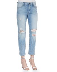Current/Elliott The Fling Slouch-Fit Boyfriend Low-Rise Jeans - Lyst