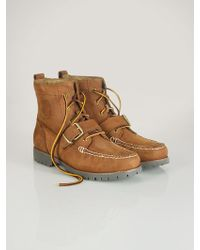 Polo Ralph Lauren Oiled-leather Redmon Boot - Lyst