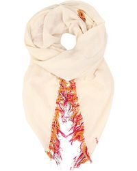 Maje Epic Cotton Scarf - For Women beige - Lyst