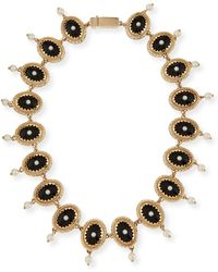 Givenchy - Oval Crystal And Pearly Necklace - Lyst