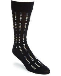 Cole Haan 'Ombre Mirror Dot' Pima Cotton Blend Socks black - Lyst