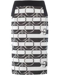 Giles Jacquard Stripe Skirt - Lyst