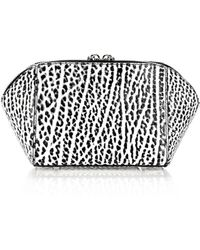 Alexander Wang Chastity Makeup Pouch In Pebbled White And Black - Lyst