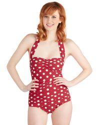 Esther Williams Swimwear Beach Blanket Bingo Onepiece Swimsuit in Red - Lyst