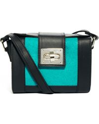 Asos Barrel Cross Body Bag with Leather Pony - Lyst