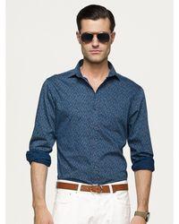 Ralph Lauren Black Label Paisley Sloan Shirt - Lyst