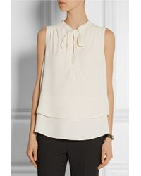 Proenza Schouler Pussy-Bow Crepe Top - Lyst