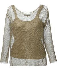 Ralph Lauren Blue Label Sheer Knitted Sweater - Lyst