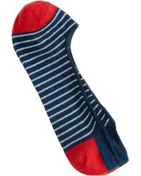 J.Crew Striped No-Show Socks - Lyst