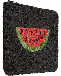Santi - Black Watermelon Beaded Clutch Bag - Lyst