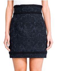 Dolce & Gabbana Jacquard High-Waist Skirt - Lyst